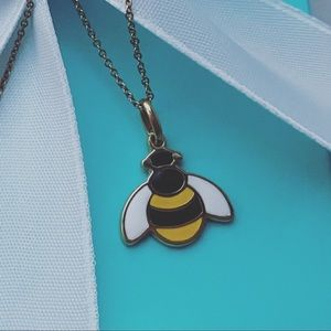 Tiffany & Co. Enamel Bumble Bee Necklace